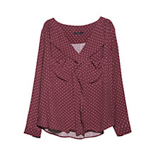 Buy Violeta by Mango Ruffle Neckline Blouse Online at johnlewis.com