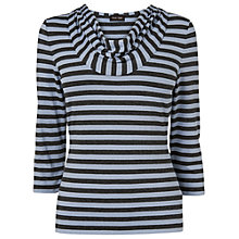 Buy Phase Eight Carrie Stripe Top, Blue/Charcoal Online at johnlewis.com