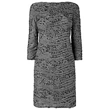 Buy Phase Eight Millie Textured Tunic Dress, Black Grey Online at johnlewis.com