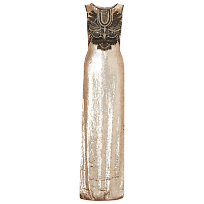 Phase Eight Collection 8 Clara Embellished Maxi Dress, Gold