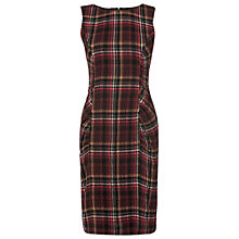 Buy Phase Eight Michelle Tartan Dress, Burgundy Online at johnlewis.com