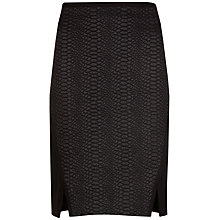 Buy Ted Baker Costey Textured Skirt, Black Online at johnlewis.com