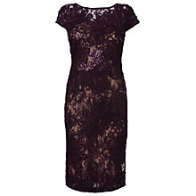 Buy Phase Eight Gianna Lace Dress, Grape Online at johnlewis.com