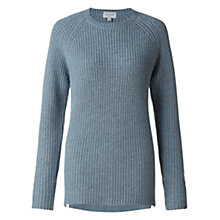Buy Jigsaw Rib Curve Hem Jumper Online at johnlewis.com