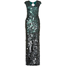 Buy Phase Eight Galina Sequin Full Length Dress, Green/Black Online at johnlewis.com