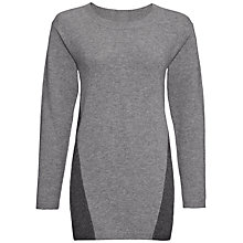 Buy Jaeger Cashmere Paneled Tunic Top, Grey Online at johnlewis.com
