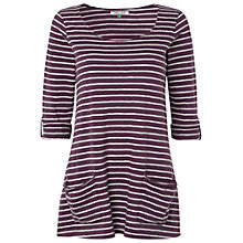 Buy White Stuff Ritual Stripe Cotton Top, Dusty Fig Online at johnlewis.com