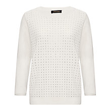Buy Jaeger Hot Fix Stripe Sweater, Ivory Online at johnlewis.com