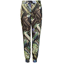 Buy Ted Baker Belatia Parquet Geo Printed Jogger, Dark Green Online at johnlewis.com