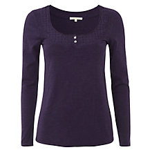 Buy White Stuff Long Sleeve Daisy Top, Purple Fable Online at johnlewis.com