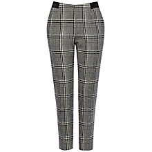 Buy Jaeger Wool Abstract Trousers, Black / White Online at johnlewis.com