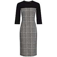 Buy Jaeger Wool Abstract Dress, Black / White Online at johnlewis.com