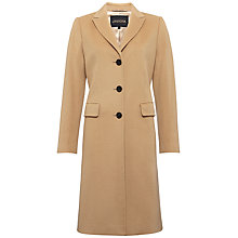 Buy Jaeger Boyfriend Coat, Camel Online at johnlewis.com