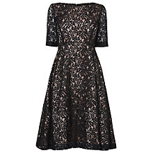 Buy Phase Eight Louanna Lace Dress, Black And Nude Online at johnlewis.com