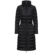 Buy Jaeger Long Padded Coat, Black Online at johnlewis.com