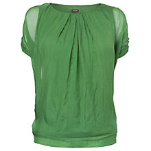Buy Phase Eight Olive Silk Top, Leaf Online at johnlewis.com