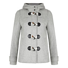 Buy NW3 by Hobbs Ella Short Duffle Coat, Grey Melange Online at johnlewis.com