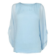 Buy Phase Eight Zinnia Silk Blouse, Opal Online at johnlewis.com