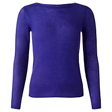 Buy Jigsaw Cashmere Sheer Sweater, Royal Blue Online at johnlewis.com