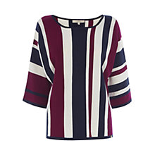 Buy Wishbone Betty V Stripe Knit Top, Multi Online at johnlewis.com