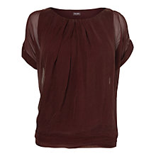 Buy Phase Eight Olive Silk Top, Wine Online at johnlewis.com