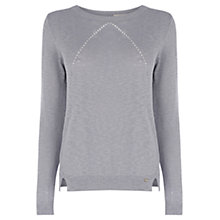 Buy Wishbone Cecile Knit Jumper, Pale Grey Online at johnlewis.com