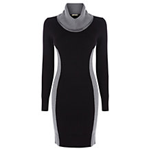 Buy Oasis Colour Block Sweater Dress, Black Multi Online at johnlewis.com
