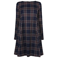 Buy Phase Eight Natalie Check Dress, Navy/Beaujolais Online at johnlewis.com