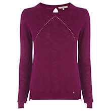 Buy Wishbone Cecile Fine Knit Jumper, Berry Online at johnlewis.com