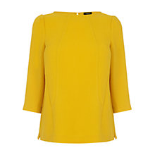 Buy Oasis Curved Seam Top, Ochre Online at johnlewis.com