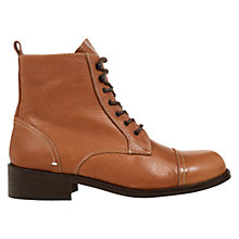 Buy NW3 by Hobbs Tyler Leather Ankle Boots, Tan Online at johnlewis.com