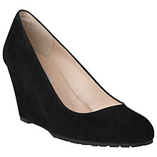 Buy L.K. Bennett Bayleen Suede Wedge Court Shoes, Black Online at johnlewis.com