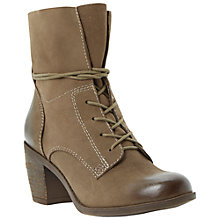 Buy Steve Madden Gretchun Leather Mid Block Heel Ankle Boots Online at johnlewis.com