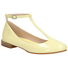 Buy Clarks Festival Glee Leather Ankle Strap Pumps, Yellow Online at johnlewis.com