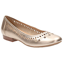 Buy Clarks Henderson Hot Leather Pumps, Gold Online at johnlewis.com