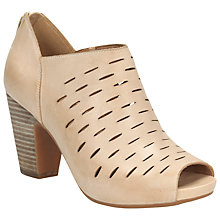 Buy Clarks Okena Leather Shoe Boots, Beige Online at johnlewis.com