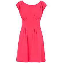 Buy Closet Pleat Tie Dress, Pink Online at johnlewis.com