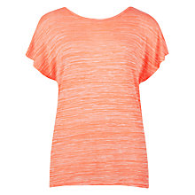 Buy Ted Baker Neon Slub T-shirt, Coral Online at johnlewis.com