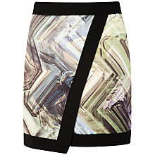 Buy Ted Baker Parquet Geo Print Skirt, Green Online at johnlewis.com