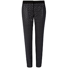 Buy Ted Baker Kuka Jacquard Ankle Grazer Trousers, Black Online at johnlewis.com
