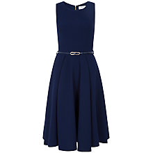 Buy Closet A-line Belt Dress, Navy Online at johnlewis.com