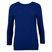 Buy Ted Baker Yayoi Bobble Stitch Jumper, Bright Blue Online at johnlewis.com