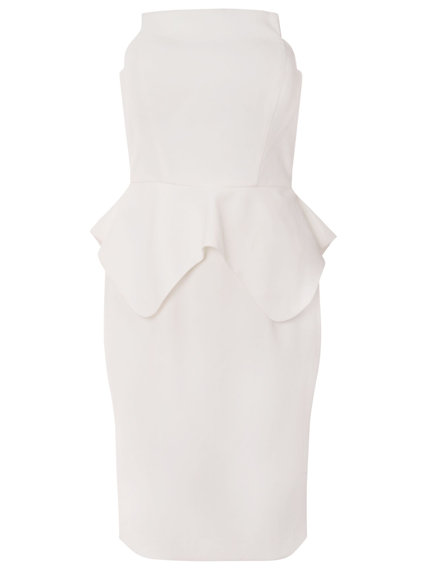 true decadence bandeau peplum dress white, true, decadence, bandeau, peplum, dress, white, true decadence, 18|16|14|12|8|10, women, womens dresses, 1679265
