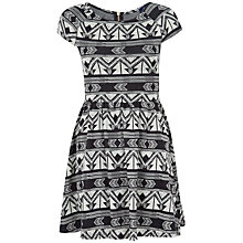 Buy Closet Patterned Dress, Black Online at johnlewis.com