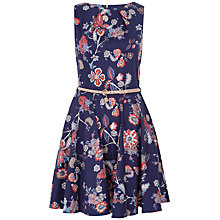 Buy Closet Floral Flared Dress, Navy Online at johnlewis.com