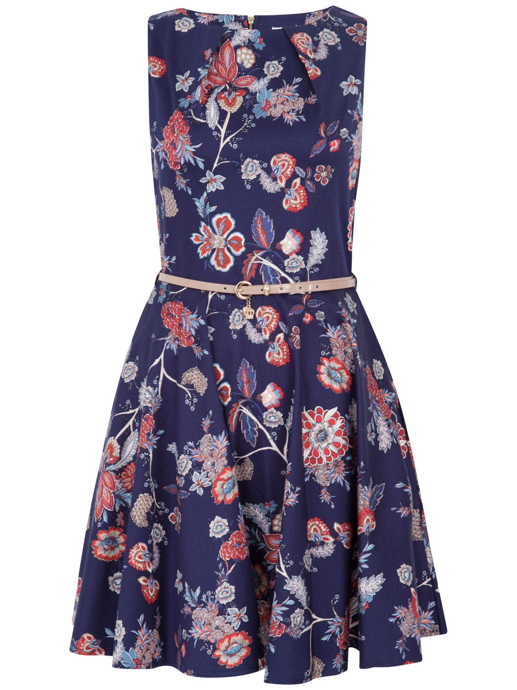closet floral flared dress navy, closet, floral, flared, dress, navy, 8|12|16|14|10, women, womens dresses, 1673552