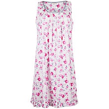 Buy Cyberjammies Isabel Floral Pleat Front Chemise, Pink / White Online at johnlewis.com