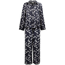 Buy Cyberjammies Sarah Print Pyjama Set, Black / White Online at johnlewis.com