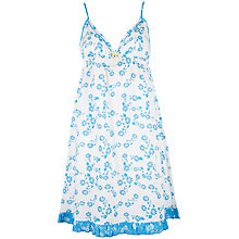 Buy Cyberjammies Daisy Print Chemise, Blue Online at johnlewis.com