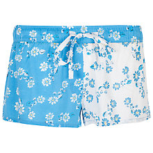 Buy Cyberjammies Daisy Print Shorts, Blue Online at johnlewis.com